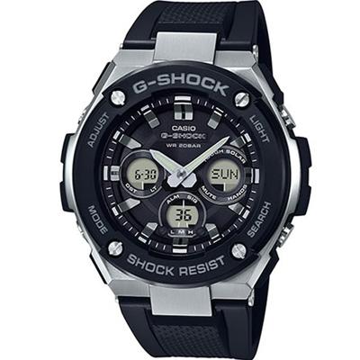 G-SHOCK 創新突破分層防護休閒運動錶(GST-S300-1A)-黑/52.4mm