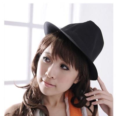 Aimee-Toff-曜黑百型素面必備紳士帽