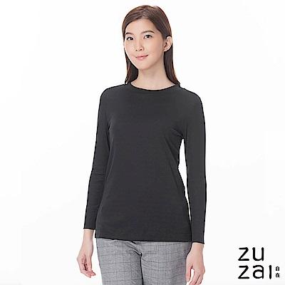 zuzai 自在發熱衣歸真系列女半高領長袖保暖衣-黑色