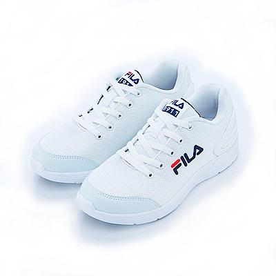 FILA 中性輕量慢跑鞋-白4-J033S-121