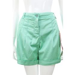I'm Isola Marras 薄荷綠抓褶設計混紡棉料反摺短褲