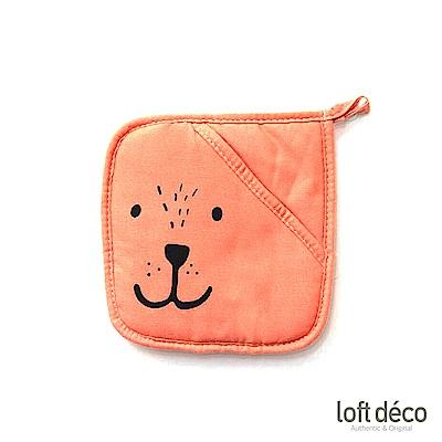 [絕版暢貨] Loft Deco | Orange bear | 隔熱墊套