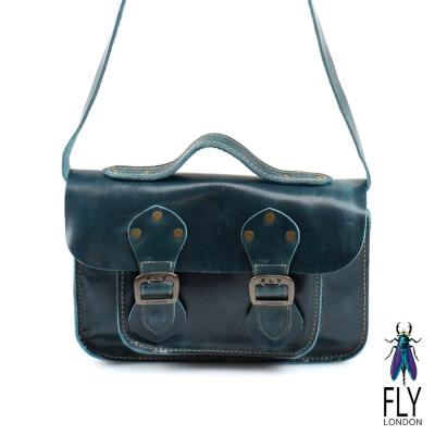 Fly-London-超經典復古牛皮小書包-墨的綠