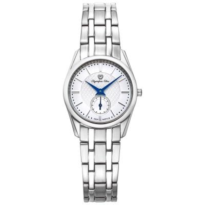 Olympia Star 奧林比亞之星經典都會系列小秒針時尚腕錶-銀/26mm