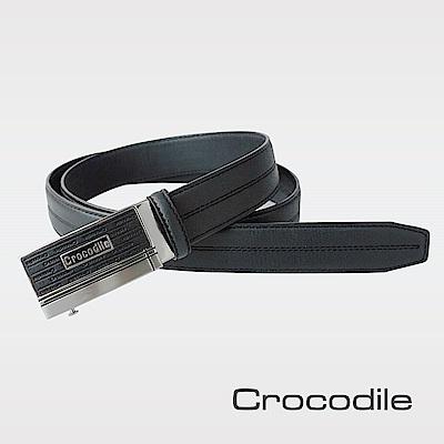 Crocodile 紳士進口真皮自動穿扣皮帶 0101-42015-01