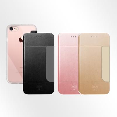 Metal-Slim APPLE iPhone 7 前插卡仿小羊皮手機套