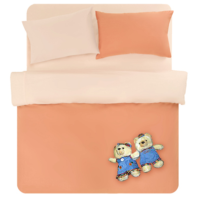 【原色布屋-炫影】雙人四件式被套床包組-香橙桔