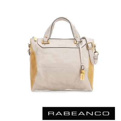 RABEANCO-OL-時尚粉領系列撞色菱形包-中-杏