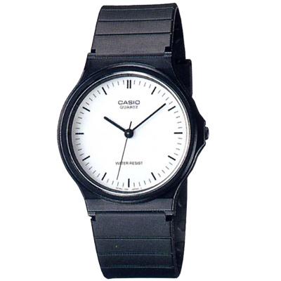 CASIO  超輕薄感數字錶(MQ-24-7E)-白面黑釘字