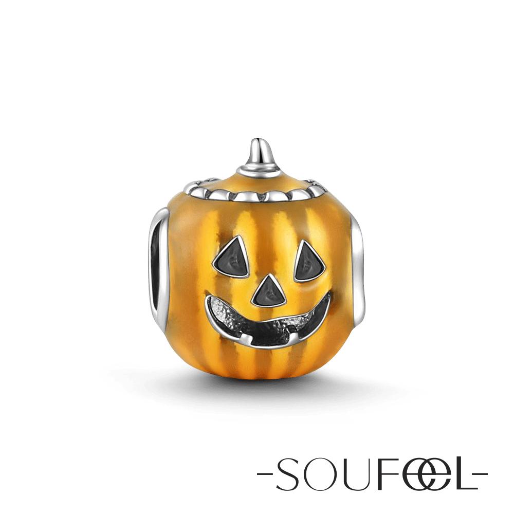 SOUFEEL索菲爾 925純銀珠飾 南瓜燈 串珠