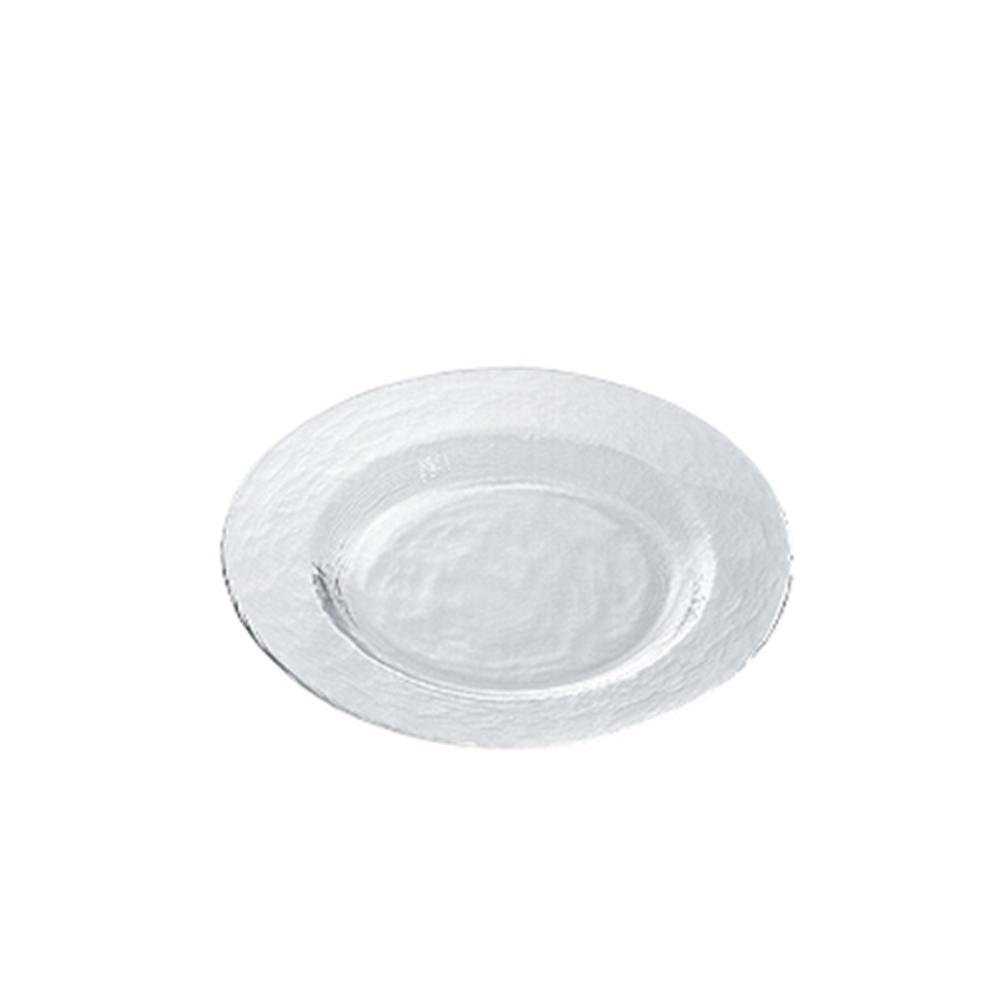 【ADERIA】日本進口Biscuit系列玻璃淺型餐盤21cm