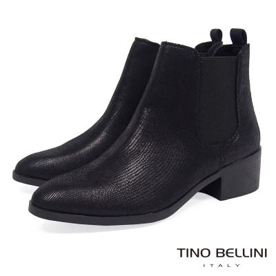 Tino Bellini 英式經典時髦切爾西靴_黑