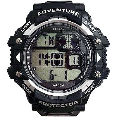 Lotus 戶外行家大徑面計時運動錶(TP1334M-01)-黑/52mm