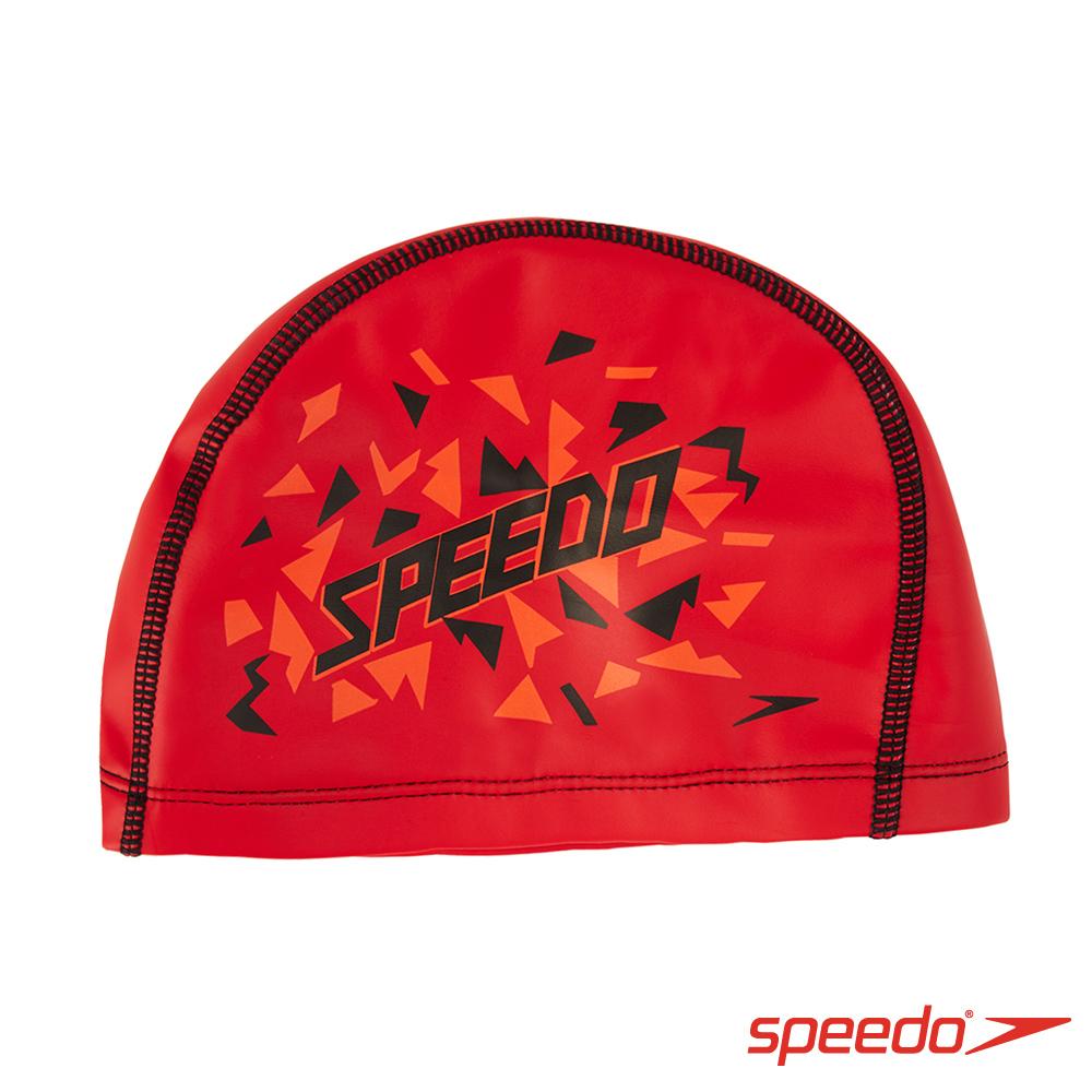 SPEEDO 兒童 合成泳帽 Pace 紅-印花