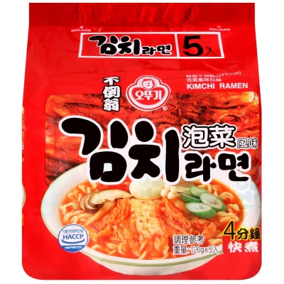 OTTOGI不倒翁 泡菜風味拉麵( 120 gx 5 入)