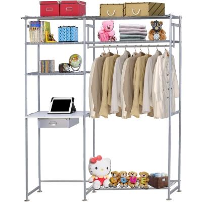 巴塞隆納-WP3型90公分+E60公分電腦桌衣櫥架(無防塵)