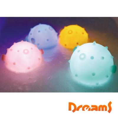 Dreams元氣河豚 泡澡LED氣氛浴燈-檸檬黃