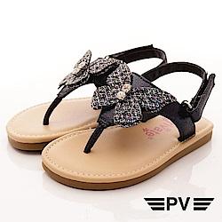 PV日系私藏 閃耀蝴蝶夾腳涼鞋款 EI302藍(寶寶段)