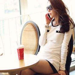 【N.C21】精品風黑白配色氣質上衣 (共四色)