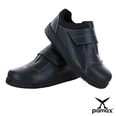 PAMAX 帕瑪斯【超彈力氣墊、高抓地力安全鞋】鋼頭、黏貼式-P08501H