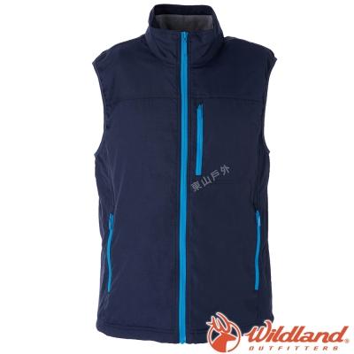 Wildland荒野 W2708-72深藍 男防潑水防風保暖背心