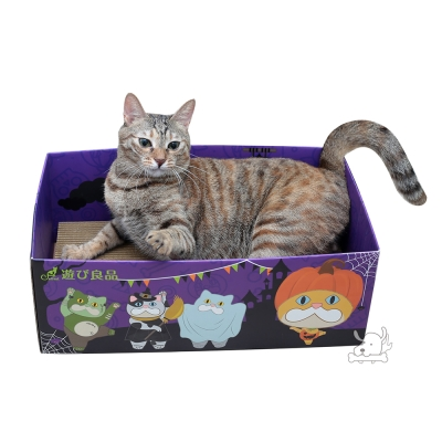CatFee 貓腳掌 遊玩良品 期間限定休憩玩耍波浪抓板窩(南瓜瘋)