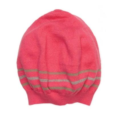 I Love Gorgeous 喀什米爾羊絨針織帽-亮桃粉