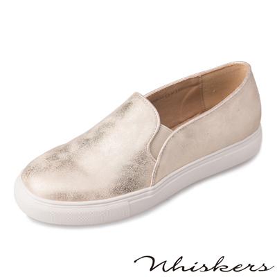 Whiskers韓系潮流 個性時尚休閒厚底懶人鞋*金色