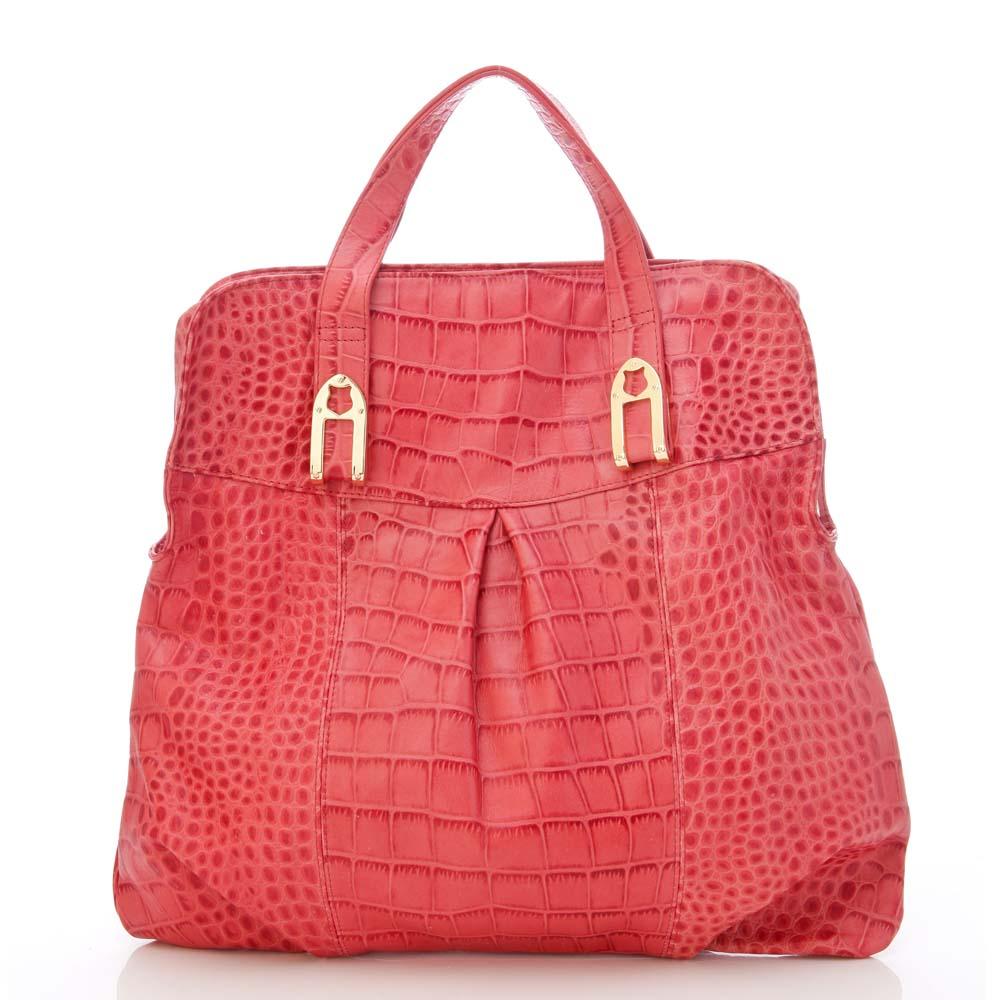 義大利BGilio - 個性時尚韻味牛皮壓鱷魚紋包-紅色1198.002A-01