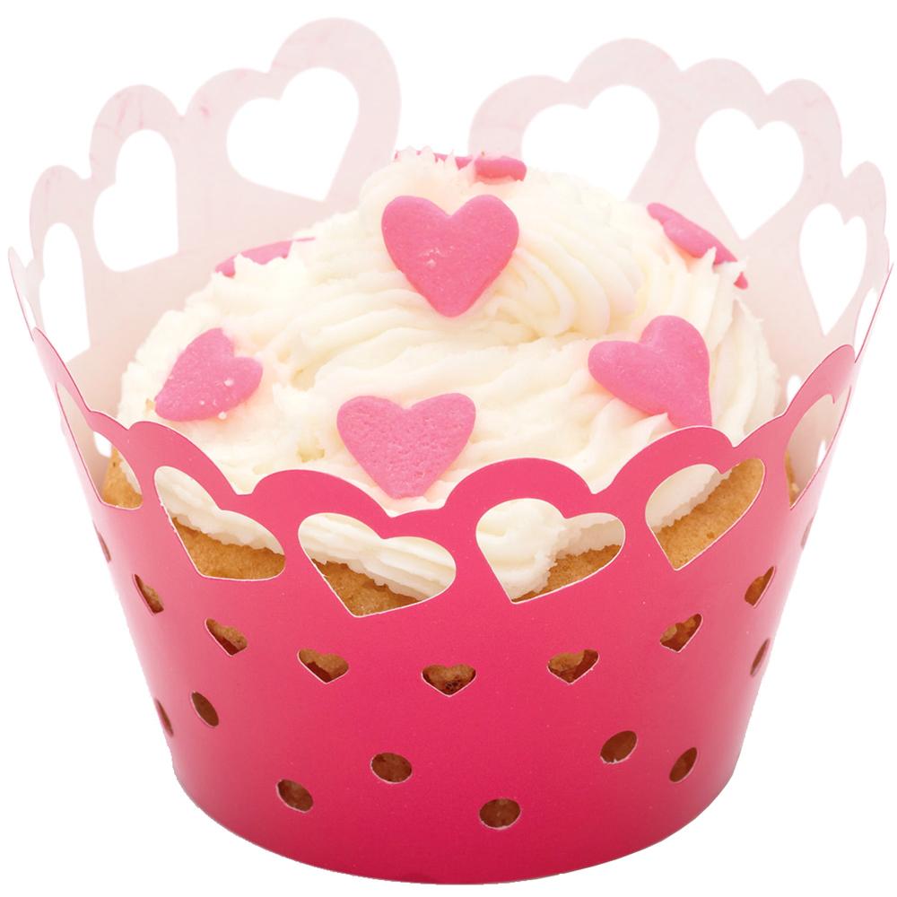 Sweetly 杯子蛋糕圍邊紙12入(紅心)