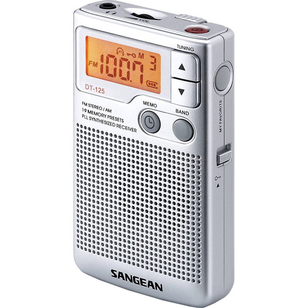 SANGEAN 二波段 數位式口袋型收音機(DT-125)
