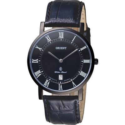 ORIENT東方錶SLIM系列超薄羅馬時標腕錶(FGW0100DB)