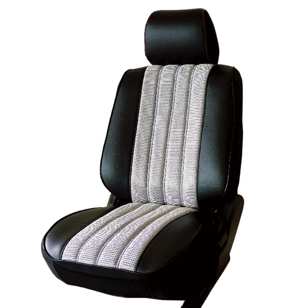 【葵花】量身訂做-汽車椅套-日式合成皮-賽車條紋-A款-休旅車-5-8人座款1+2排
