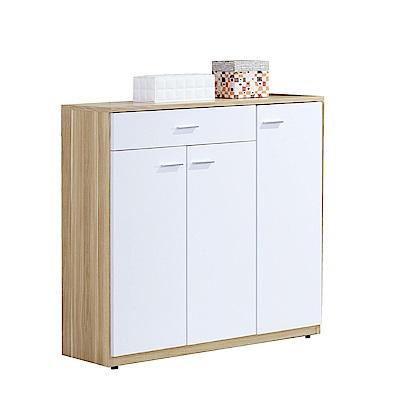 品家居  迪可夫3尺木紋三門鞋櫃-五色可選-90x32x92cm免組