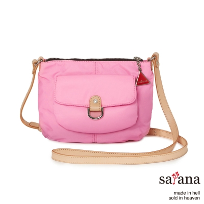 satana -929 Ladies 都會摩登 活力輕盈斜背包-凡爾賽玫瑰