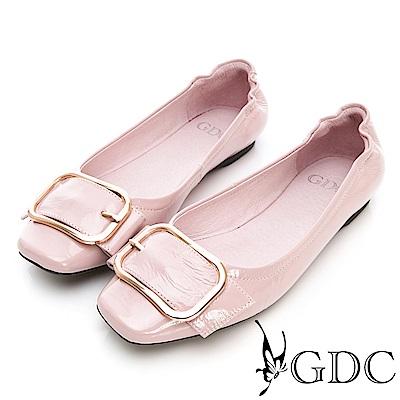 GDC-真皮扣環春夏淑女上班包鞋-粉色