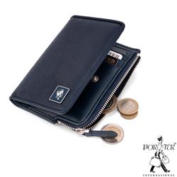 PORTER - 法式時尚BEND造型零錢皮夾 - 深藍