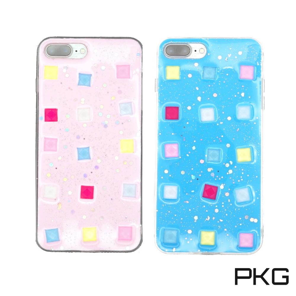 PKG Apple IPhone 7/8 PLUS  保護殼(清新系列-立體方塊)