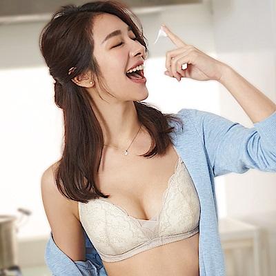 蕾黛絲-瘦型小妹大 G-H罩杯內衣(米白杏)