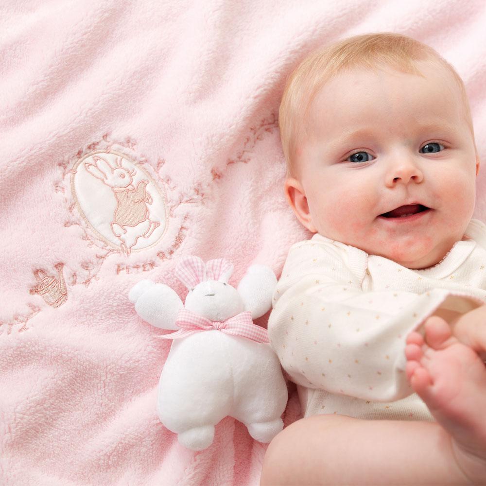 比得兔幼兒四季毯-粉紅
