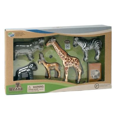 Wenno動物模型 動物系列 非洲動物5入 WAF06002