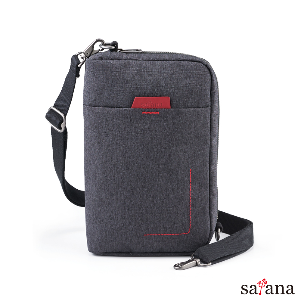 satana - Fresh 輕職人疾速斜肩包 - 麻花黑