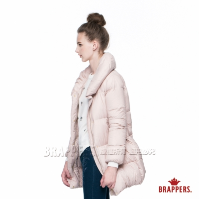 BRAPPERS 女款 輕量長版羽絨外套-淺粉