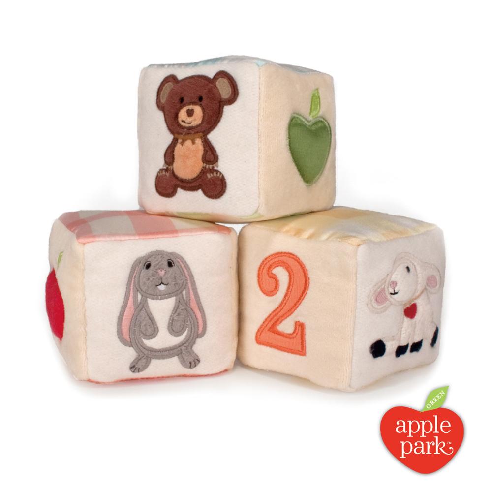 【美國 Apple Park】有機棉積木彌月禮盒(3入)