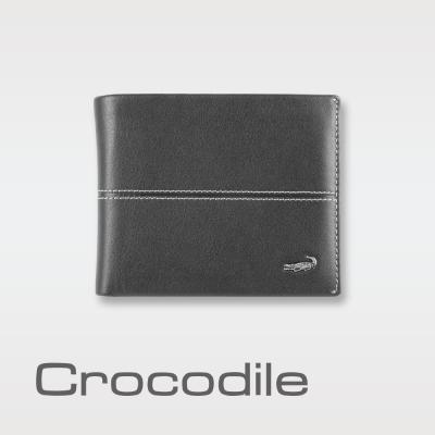 Crocodile Classic 經典系列素面軟皮短夾 0203-3604