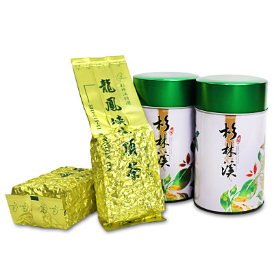 台灣茗茶 龍鳳峽杉林溪高山茶2罐組(附提袋)