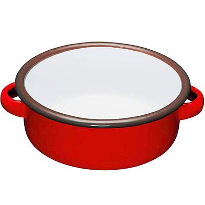 KitchenCraft 琺瑯雙耳濃湯碗(紅14cm)