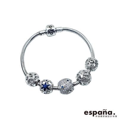 ESPANA伊潘娜 星空閃耀純銀串珠手鍊