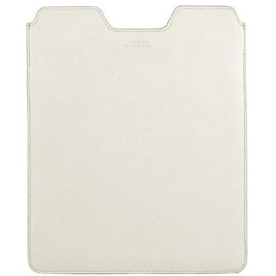 BALLY 白色牛皮壓紋iPad保護套