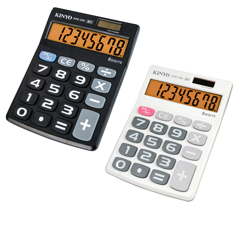 KINYO輕巧型大字鍵計算機(KPE-586)